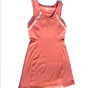 Nike court tennis mini dress peach color size xs